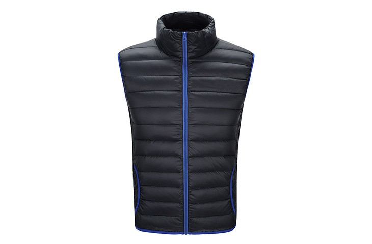 Mens Fashion Down Vest Nylon Sleeveless Down Coat Comfortable Body Warmer