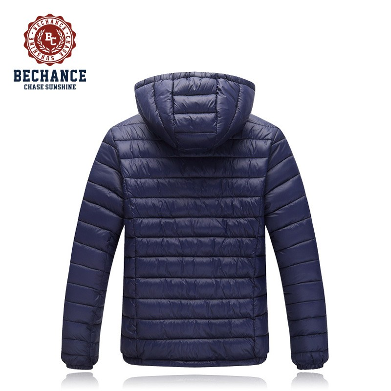 H1044 Mens Navy Down Jacket Light Weight Wearing Windproof Coat