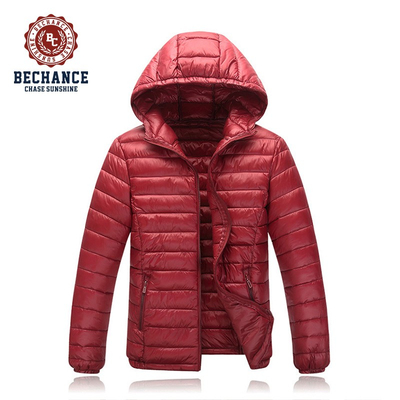 H1028 Mens Red Light Down Jacket Winter Warm Coat Jackets Wholesaler